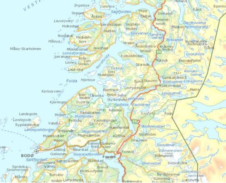 Norway Nature Travels Blog - Norway map 2014