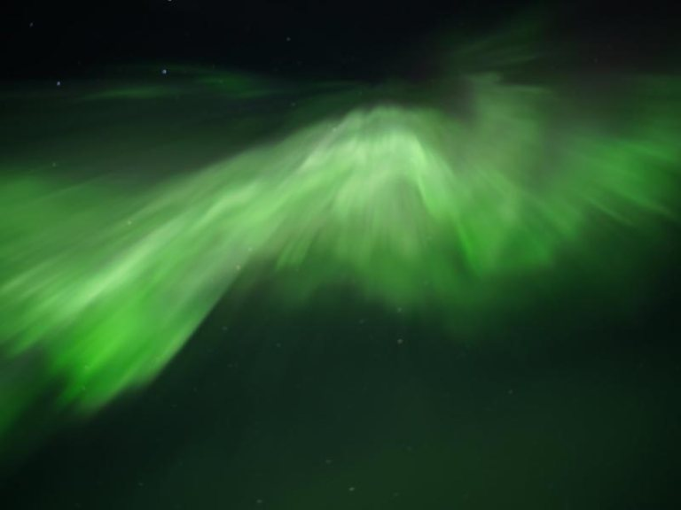 Aurora display in Swedish Lapland